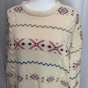 Vintage 90s Eddie Bauer Oversized FairIsle Sweater